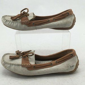 Boc Born Concept Womens 6.5 Casual Boat Shoes Whit